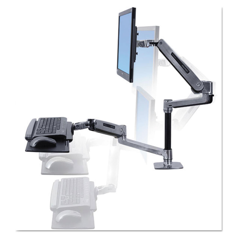 Custom Keyboard Workstation Desk : erg45405026 ergotron workfit lx sit stand workstation mount system zuma ~ Russianpoet.info Haus und Dekorationen