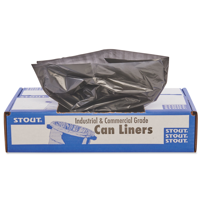 100 Recycled Plastic Trash Bags 33gal 1 3mil 33 X 40 Brown Black Ct