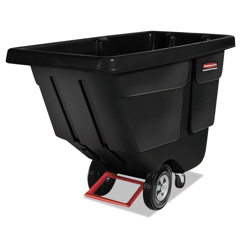 Rotomolded Tilt Truck, Rectangular, Plastic, 450 lb Capacity, Black