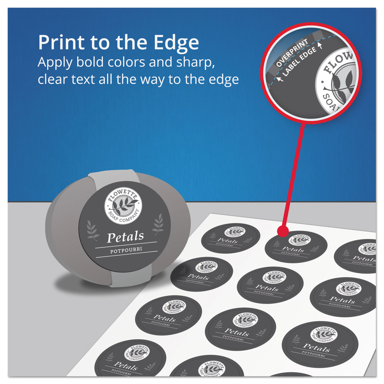 rectangle print to the edge labels by avery ave22822