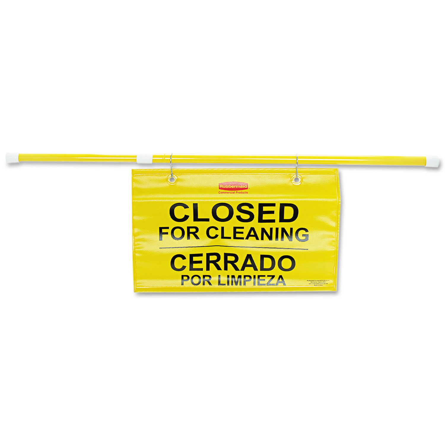 "Site Safety Hanging Sign, 50"" x 1"" x 13"", Multi-Lingual, Yellow"