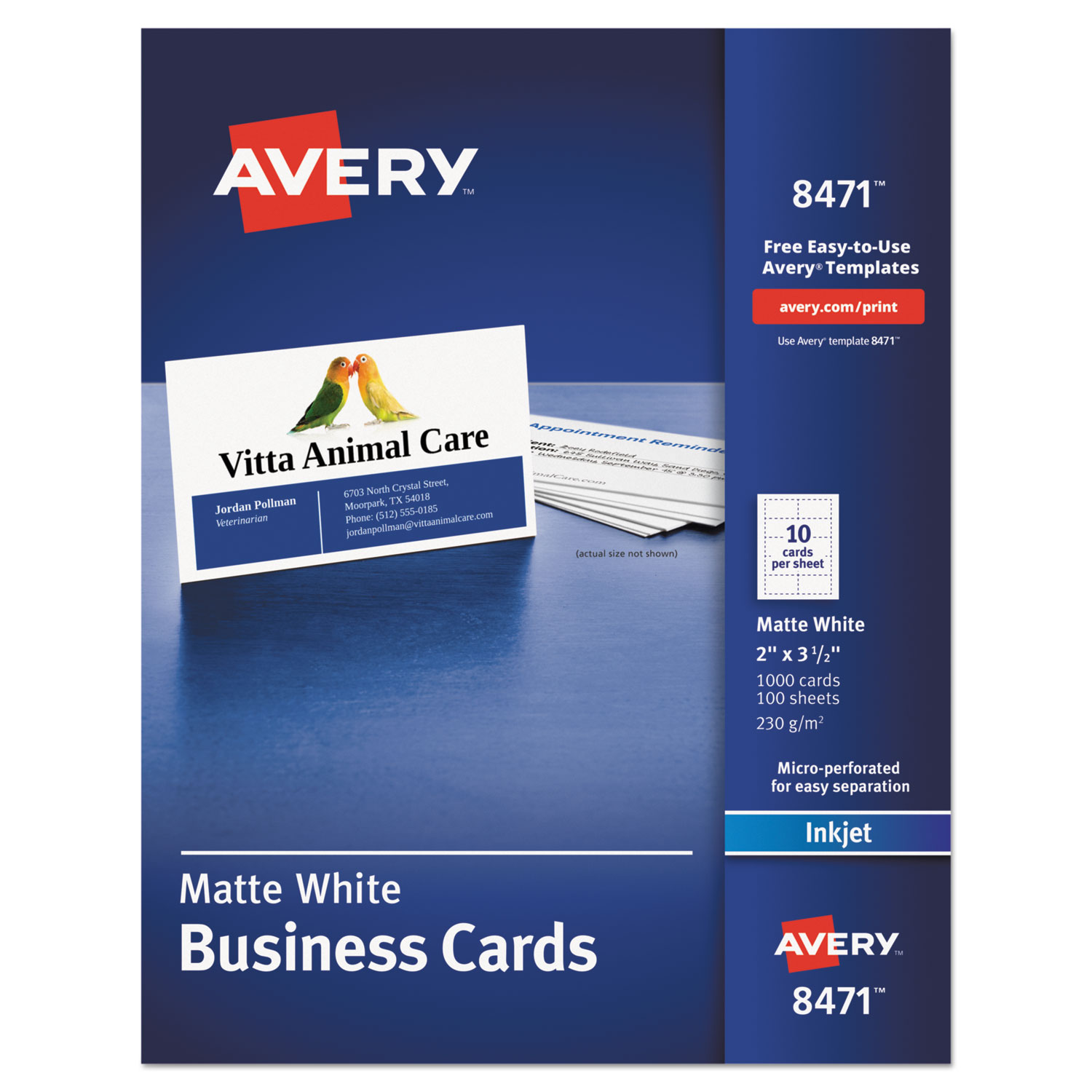 Critical image intended for avery printable business cards