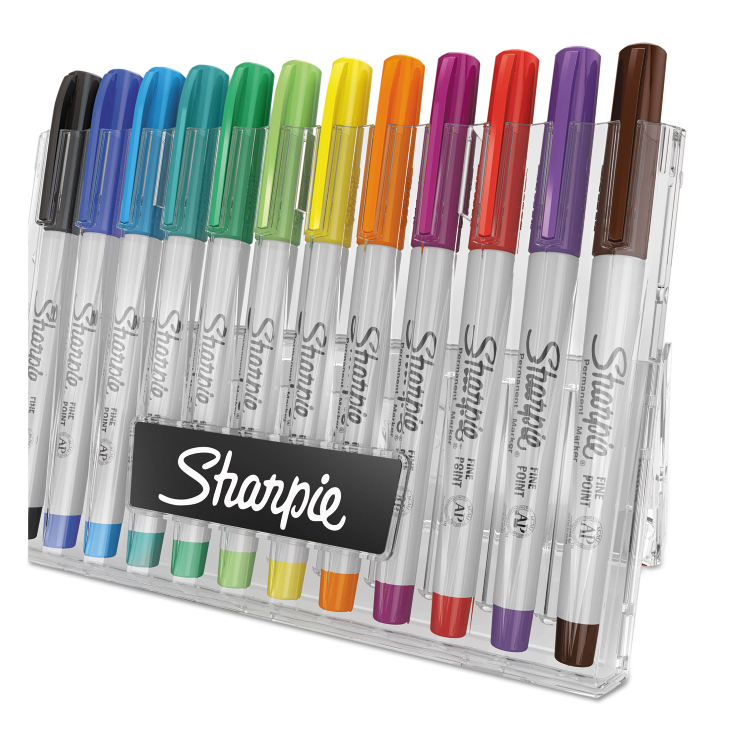 Permanent Markers w/Storage Case, Extra-Fine Needle Tip