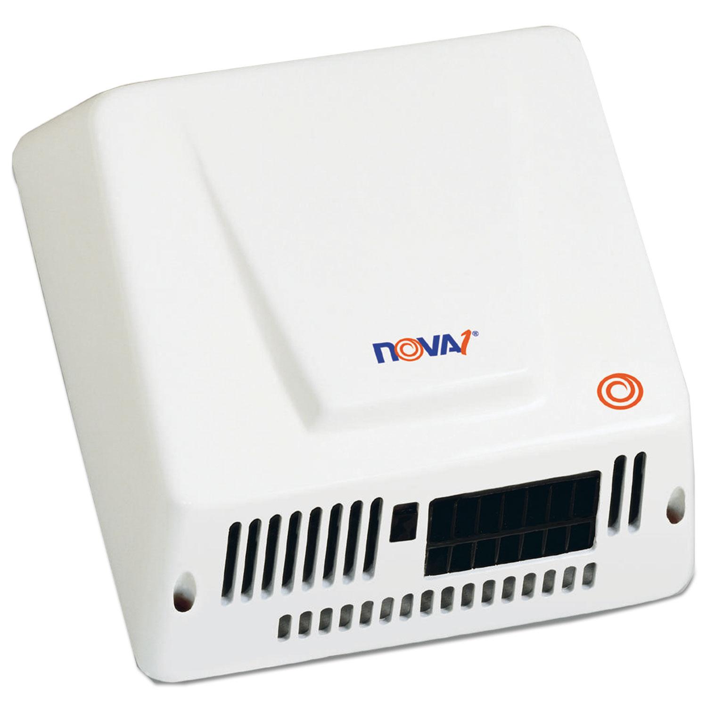 NOVA Hand Dryer, 110-240V, Aluminum, White