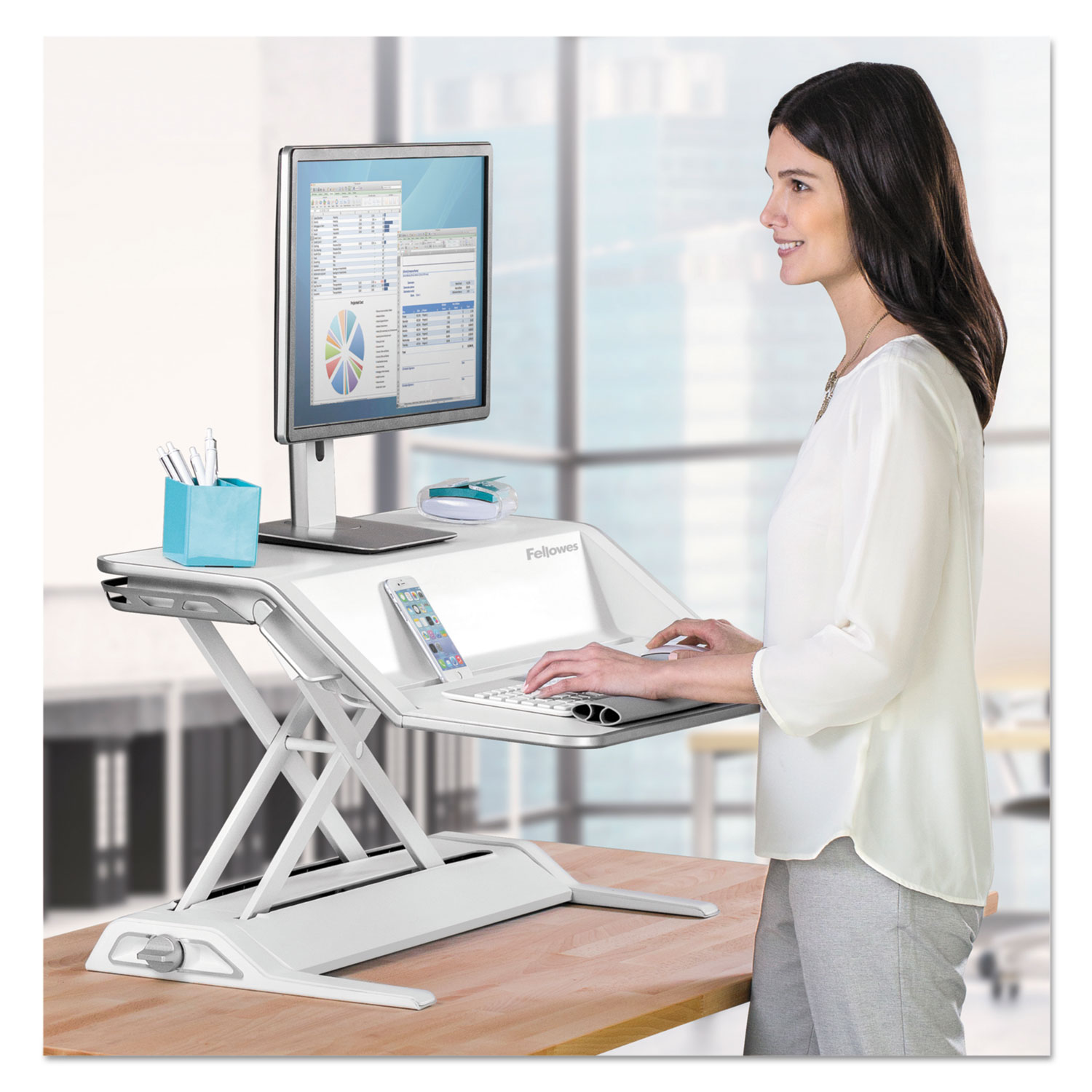 Lotus Sit Stand Workstation By Fellowes 174 Fel0009901