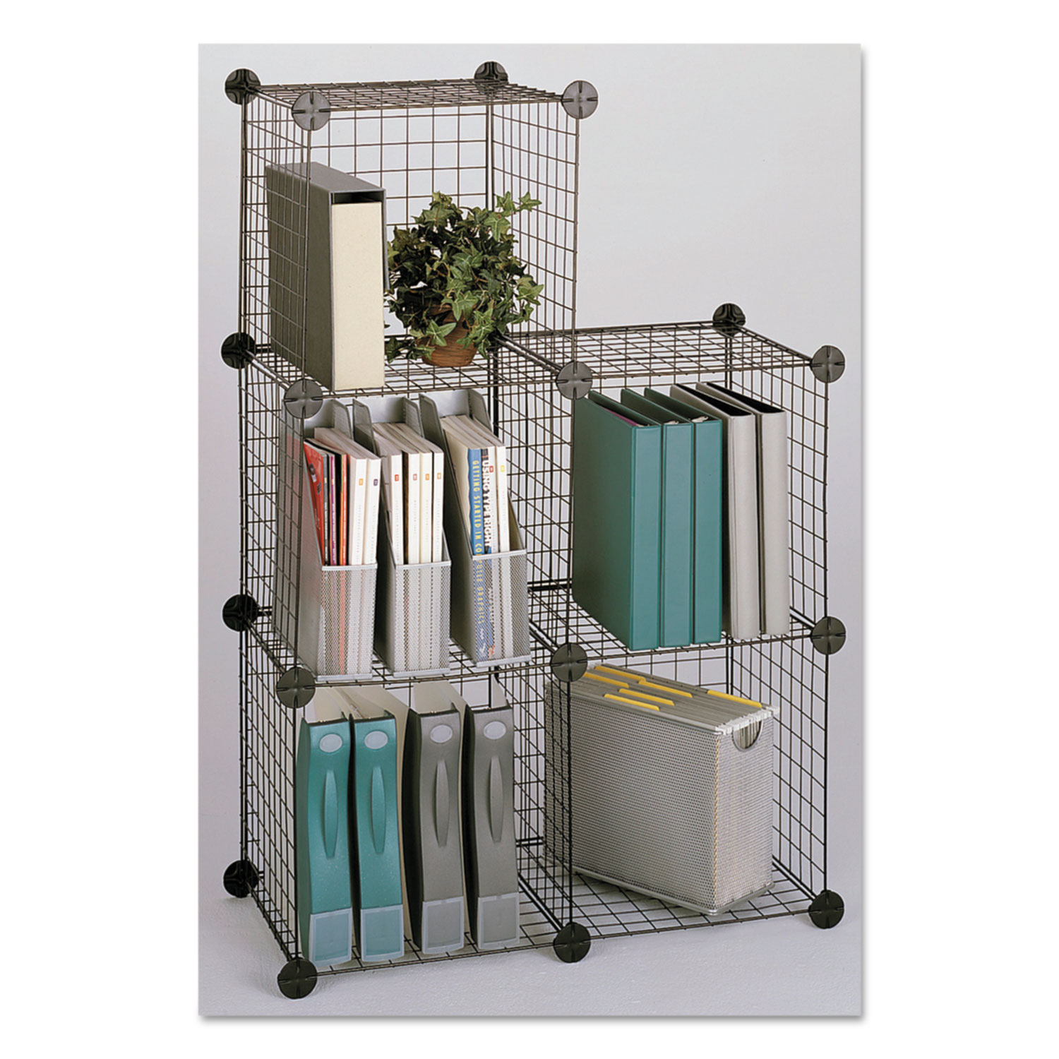 Wire Cube Shelving System by Safco® SAF5279BL | OnTimeSupplies.com
