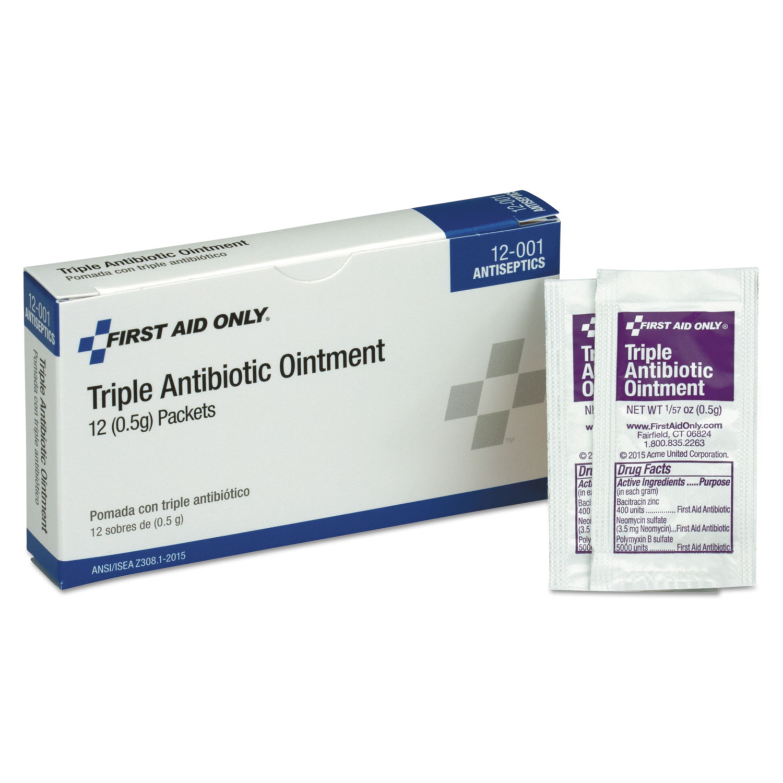 First Aid Kit Refill Triple Antibiotic Ointment, 12/Box