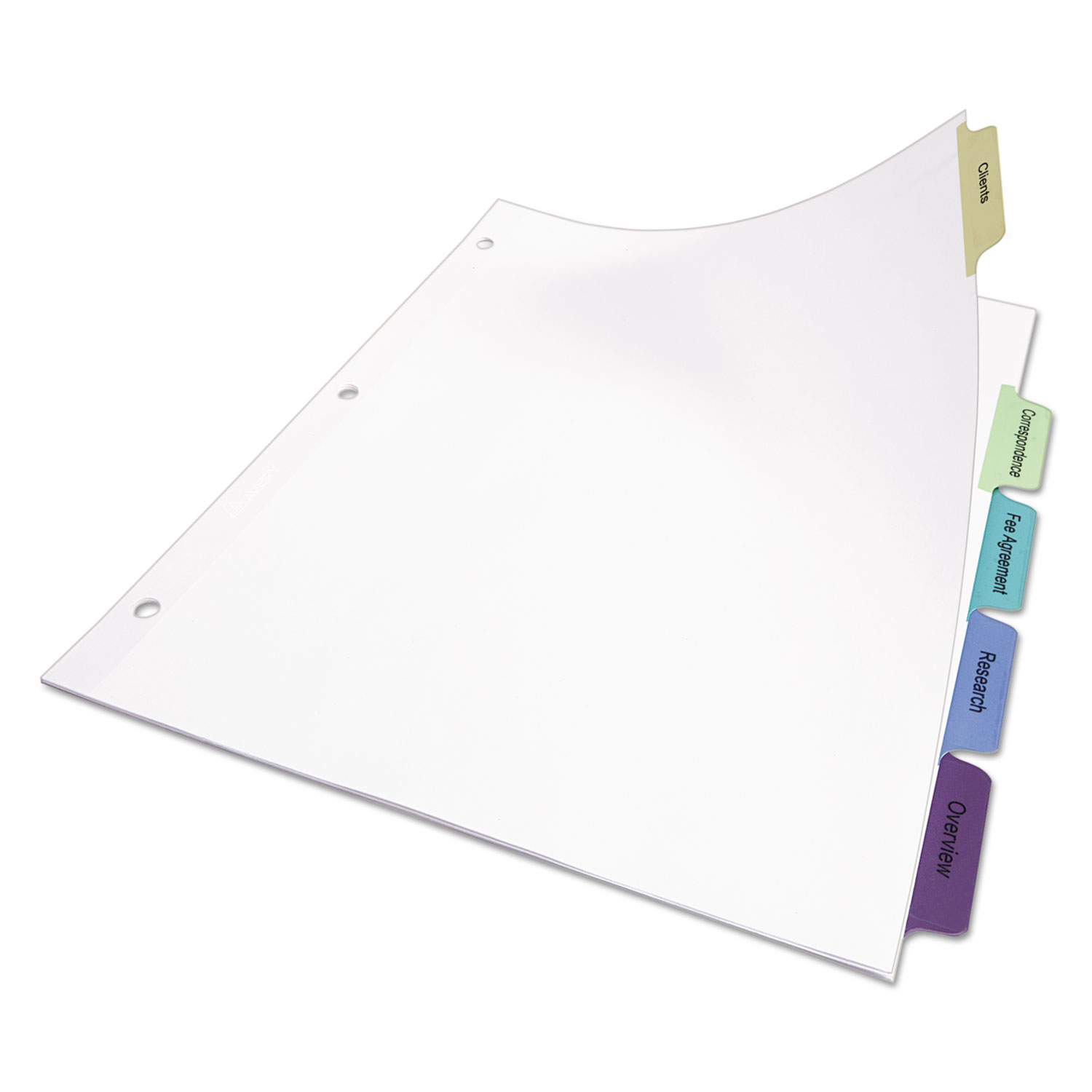 Print & Apply Clear Label Dividers W/Color Tabs By Avery