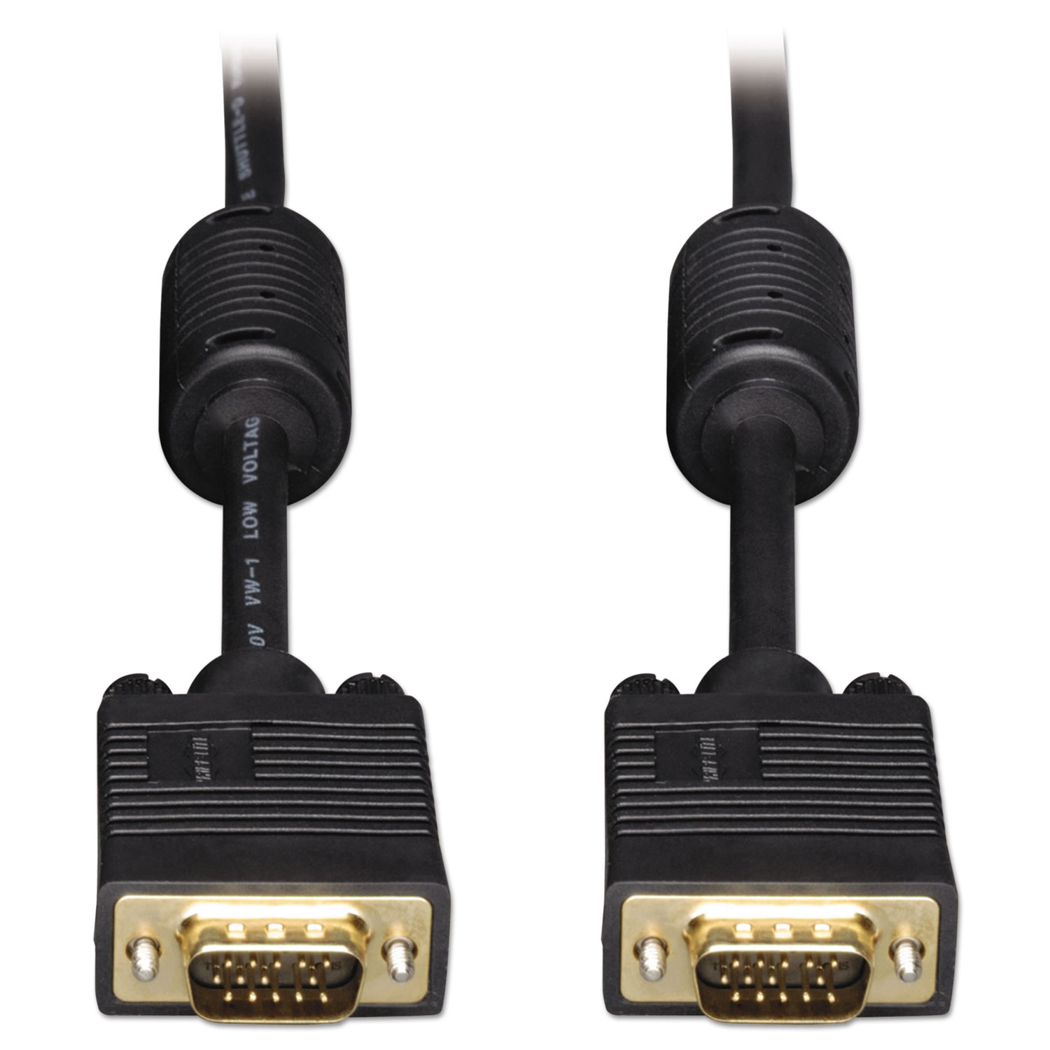 VGA Coaxial High-Resolution Monitor Cable with RGB Coaxial (HD15 M/M), 50 ft.