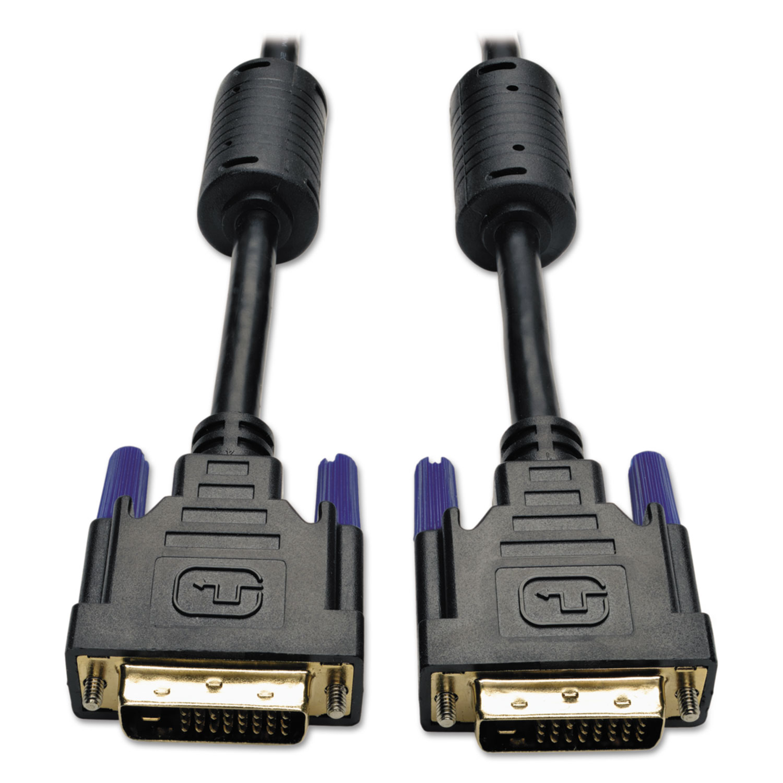 DVI Dual Link Cable, Digital TMDS Monitor Cable, DVI-D (M/M), 6 ft., Black