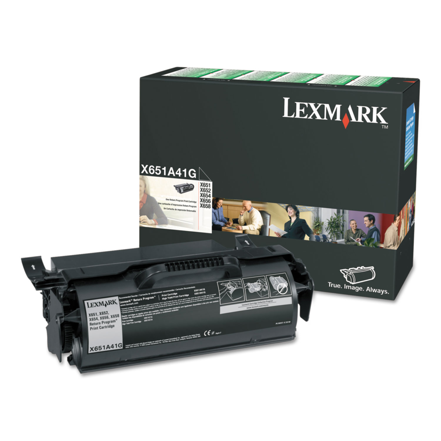 X651H11A Toner, 7000 Page-Yield, Black