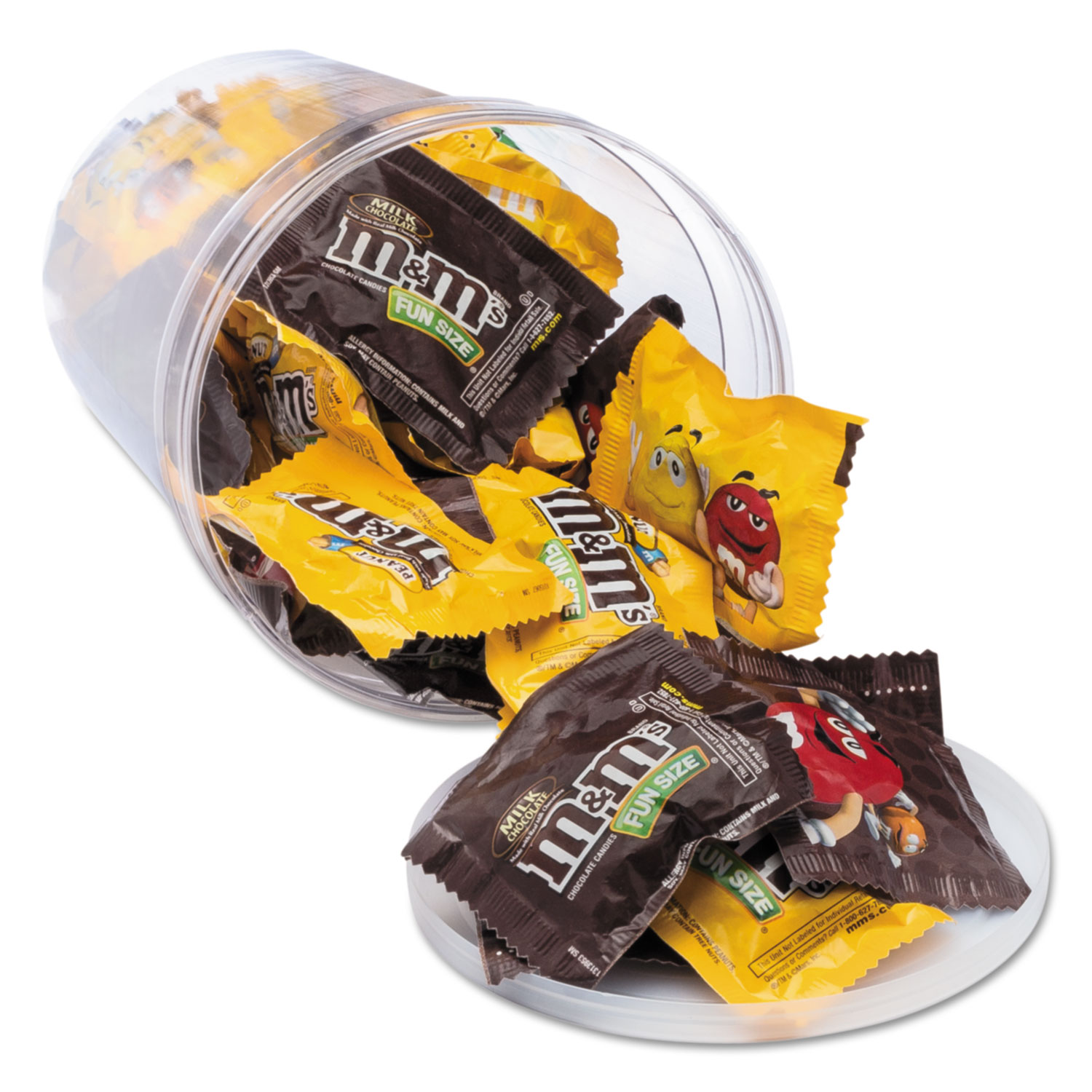 Candy Tubs, Chocolate and Peanut MandMs, 1.75 lb Resealable Plastic Tub