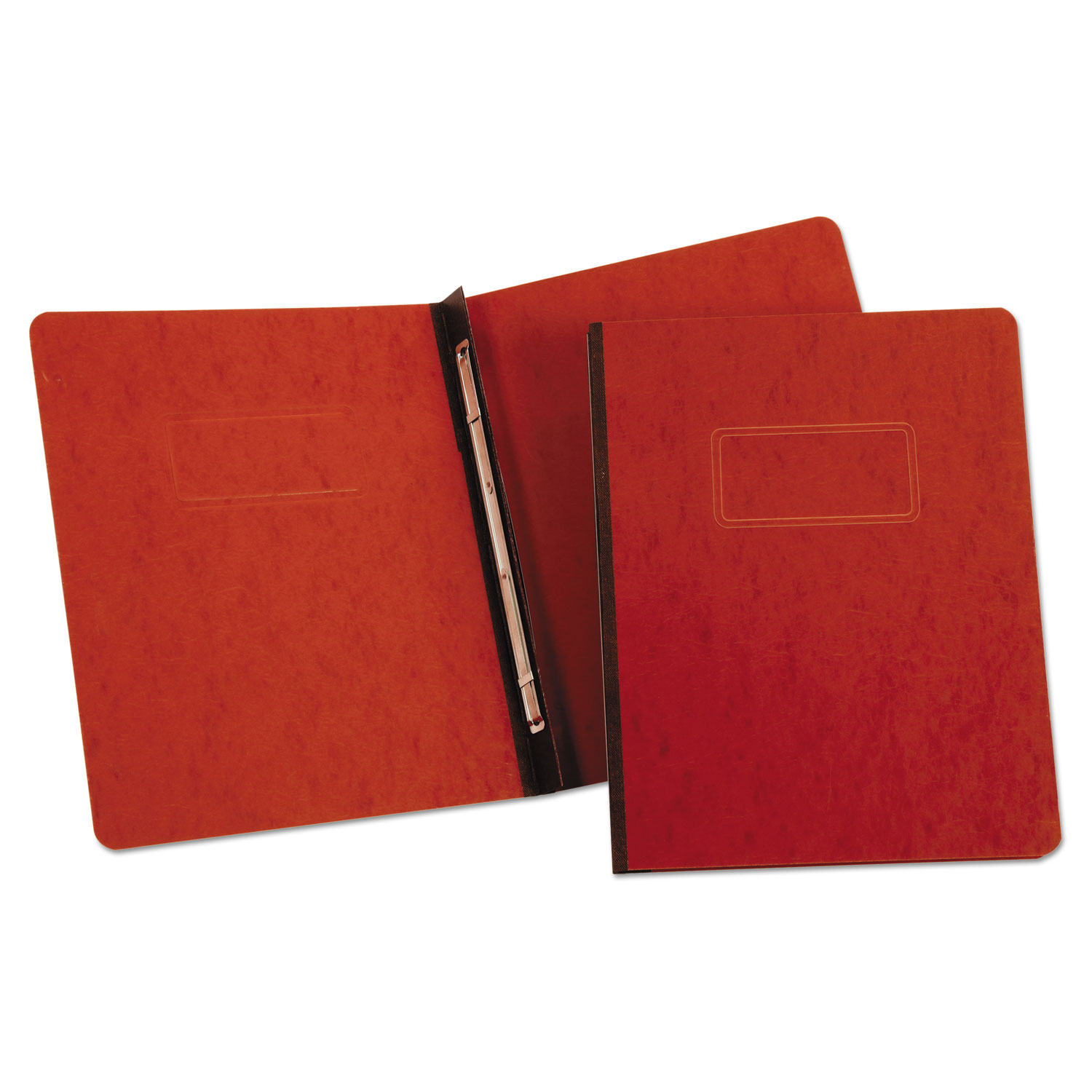 """PressGuard Coated Report Cover, Prong Clip, Letter, 3"""" Capacity, Red"""