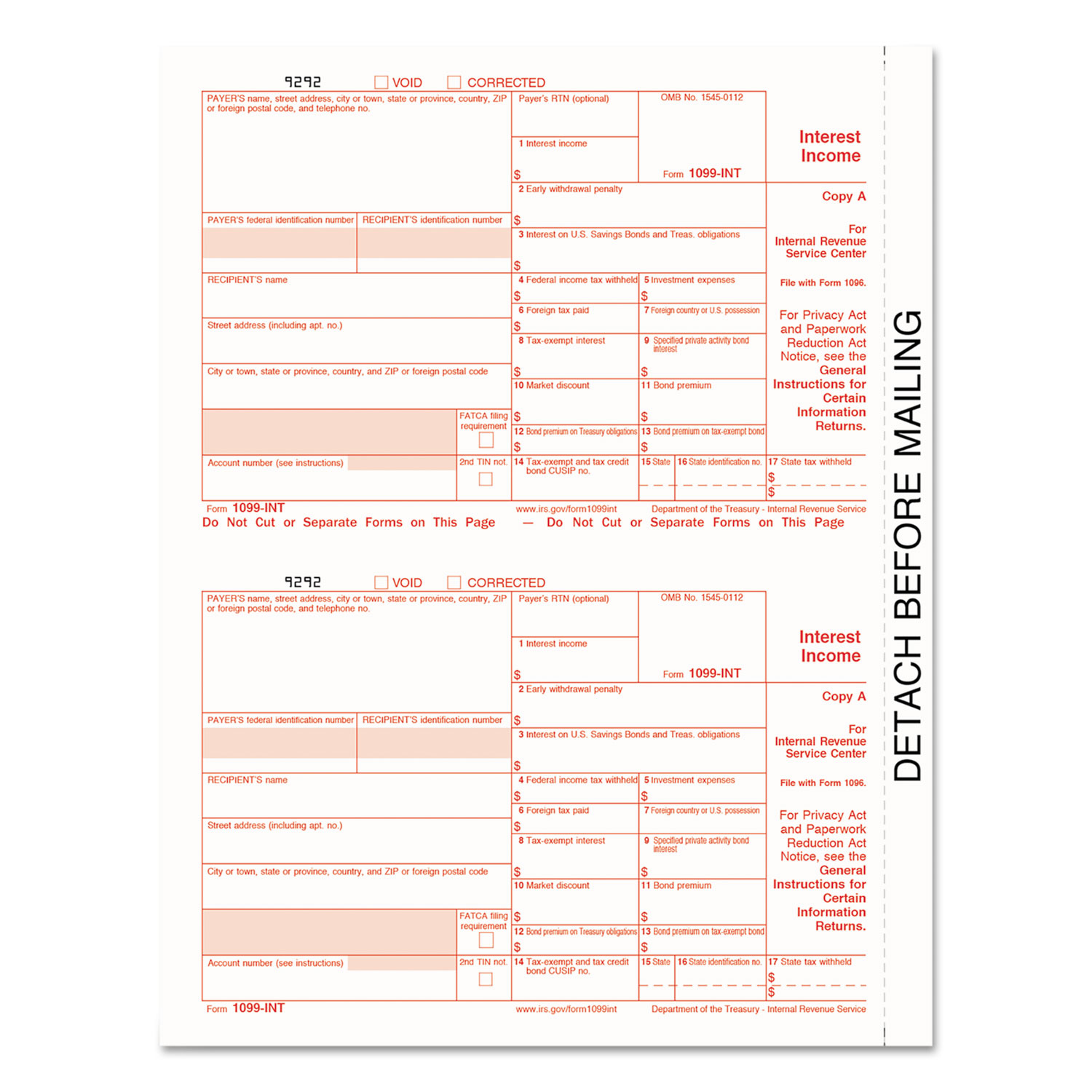 1099 int tax forms by tops top22983 ontimesupplies top22983 thumbnail 1 top22983 thumbnail 2 falaconquin