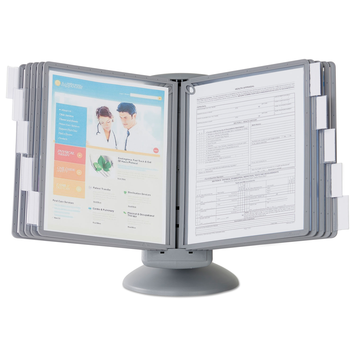 Sherpa Motion Desk Reference System By Durable 174 Dbl553937