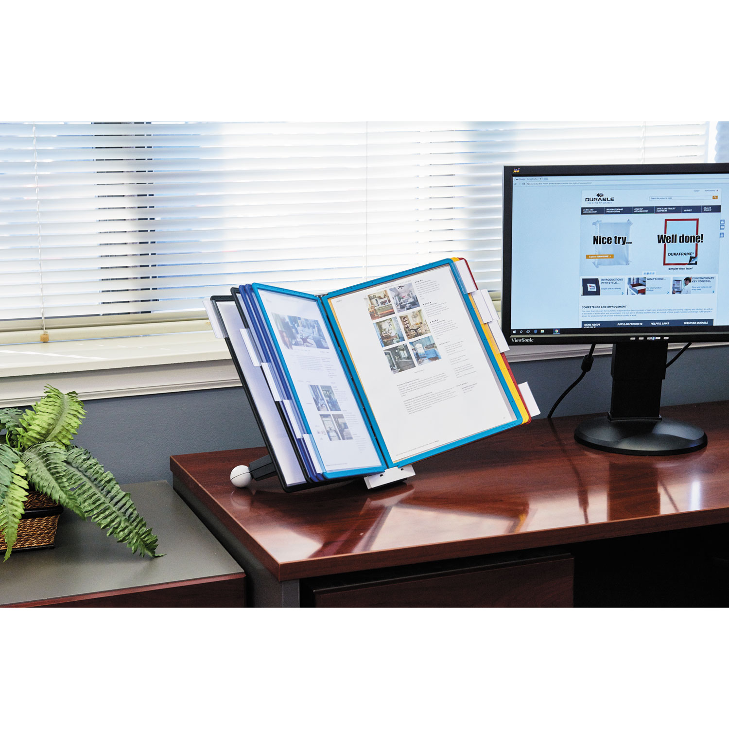 Sherpa Desk Reference System By Durable 174 Dbl554200