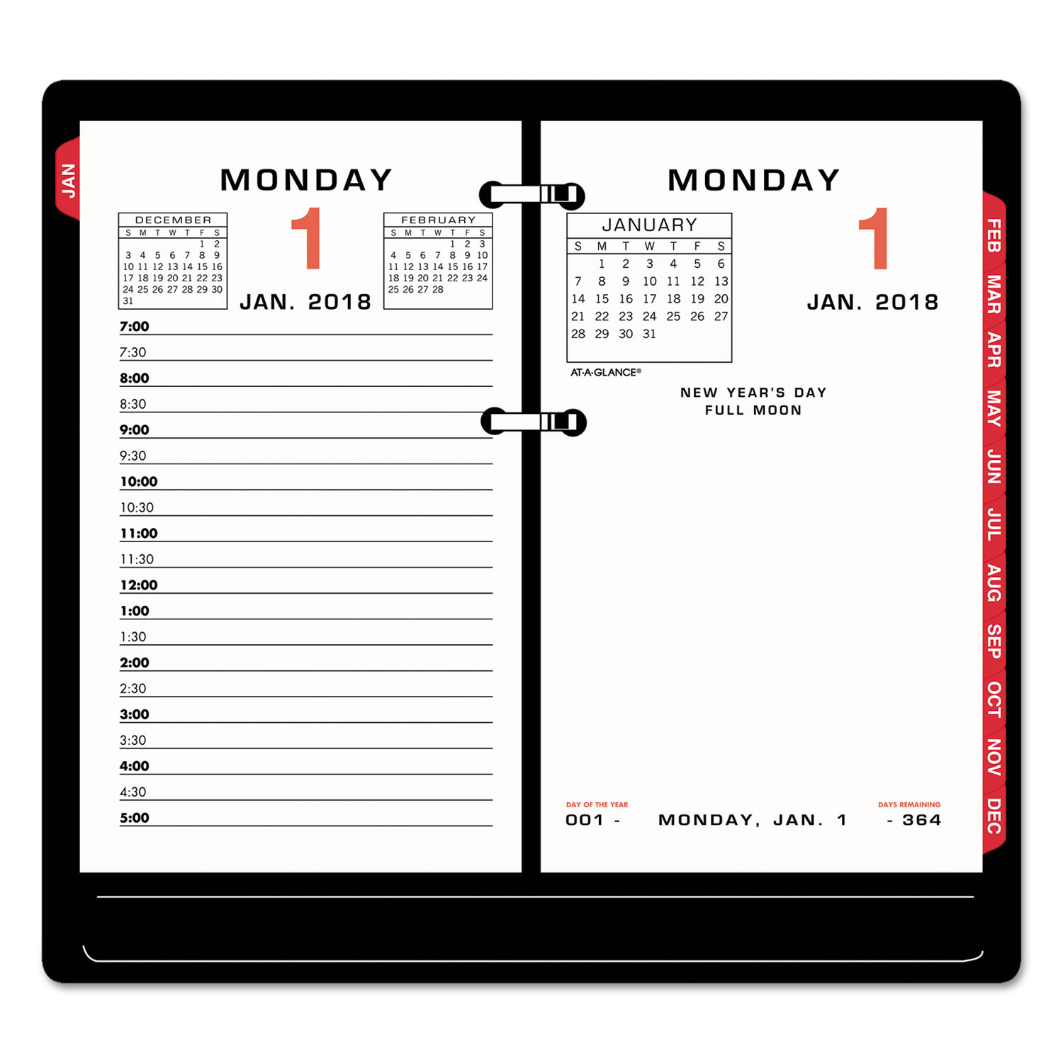 Two Color Desk Calendar Refill By At A Glance 174 Aage01750