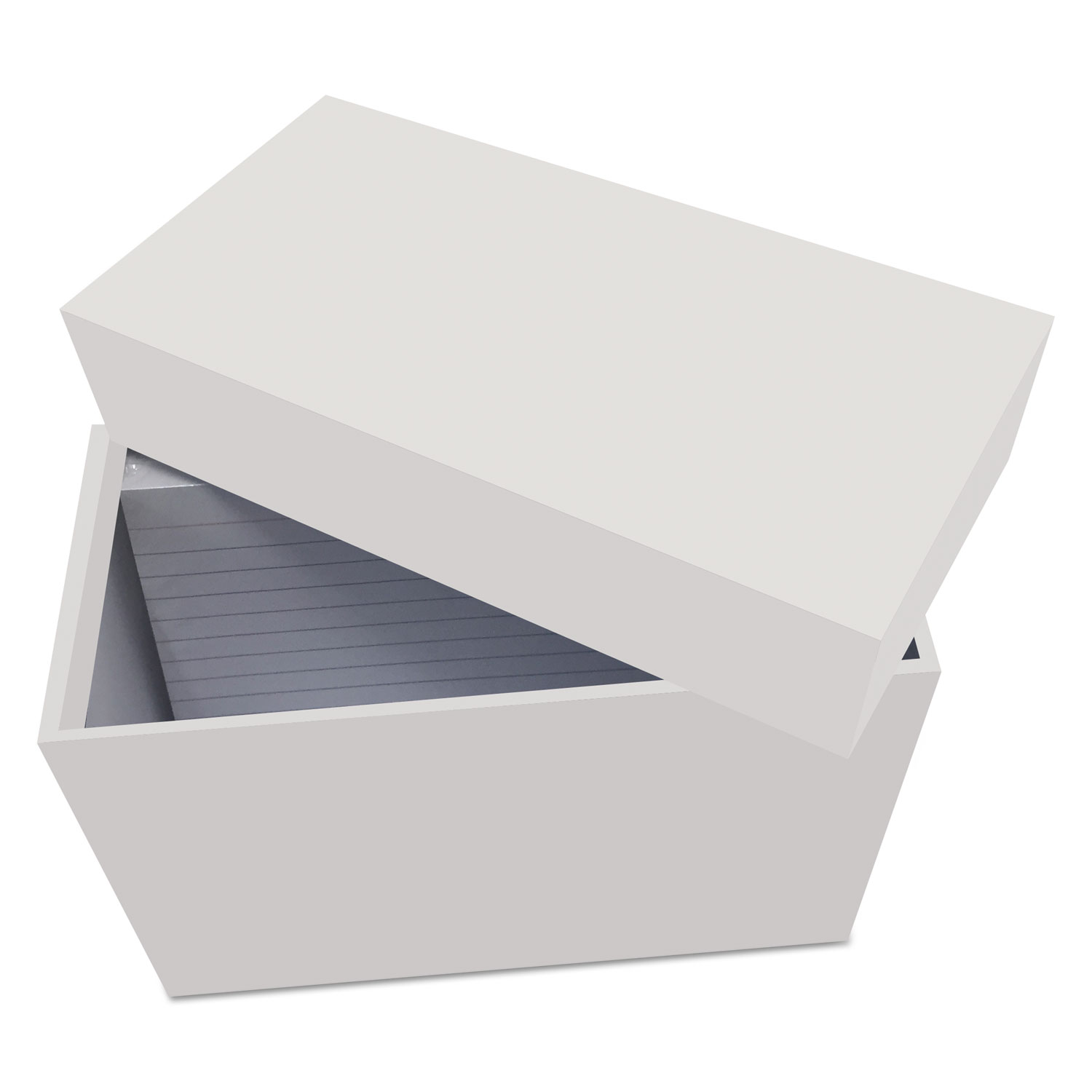 """Index Card Box with 100 Ruled Index Cards, 4"""" x 6"""", Gray"""