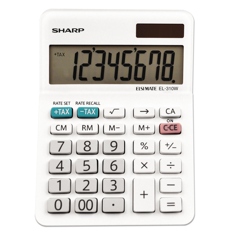 EL-310WB Mini Desktop Calculator, 8-Digit LCD