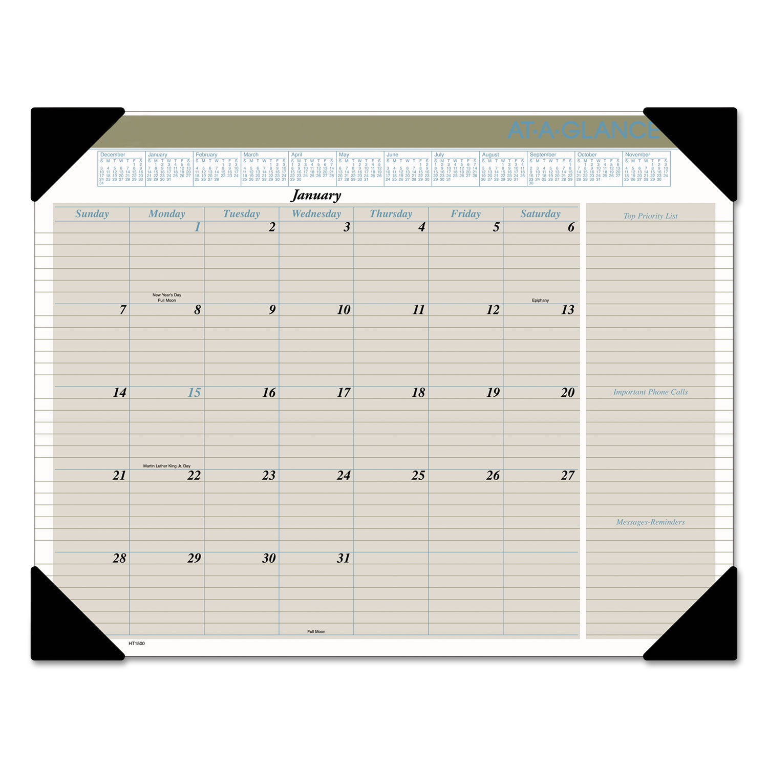 Executive Monthly Desk Pad Calendar By At A Glance