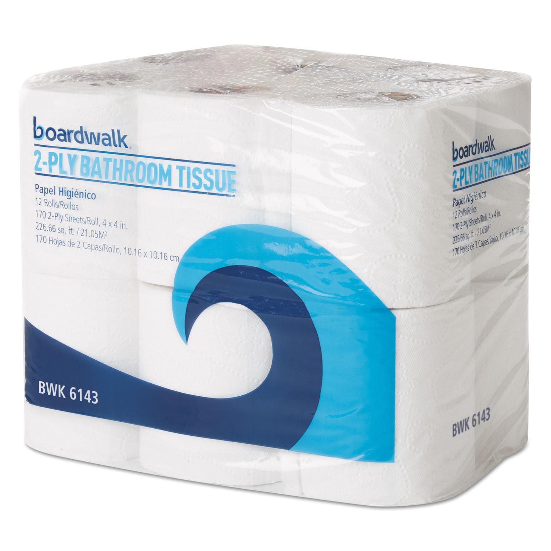 96 Rolls White GEN800 GEN Standard 2-Ply Toilet Paper Rolls