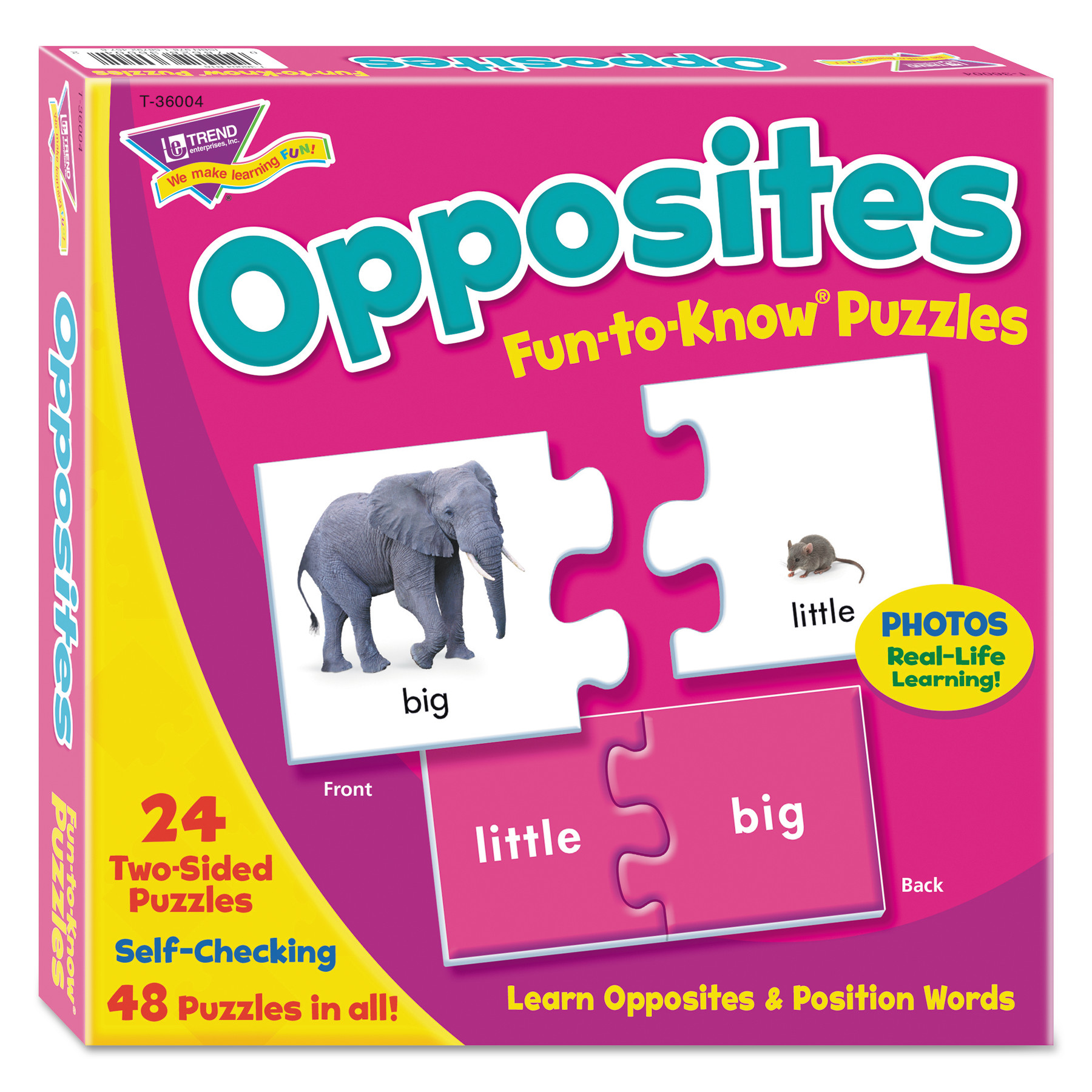 Fun to Know Puzzles, Opposites