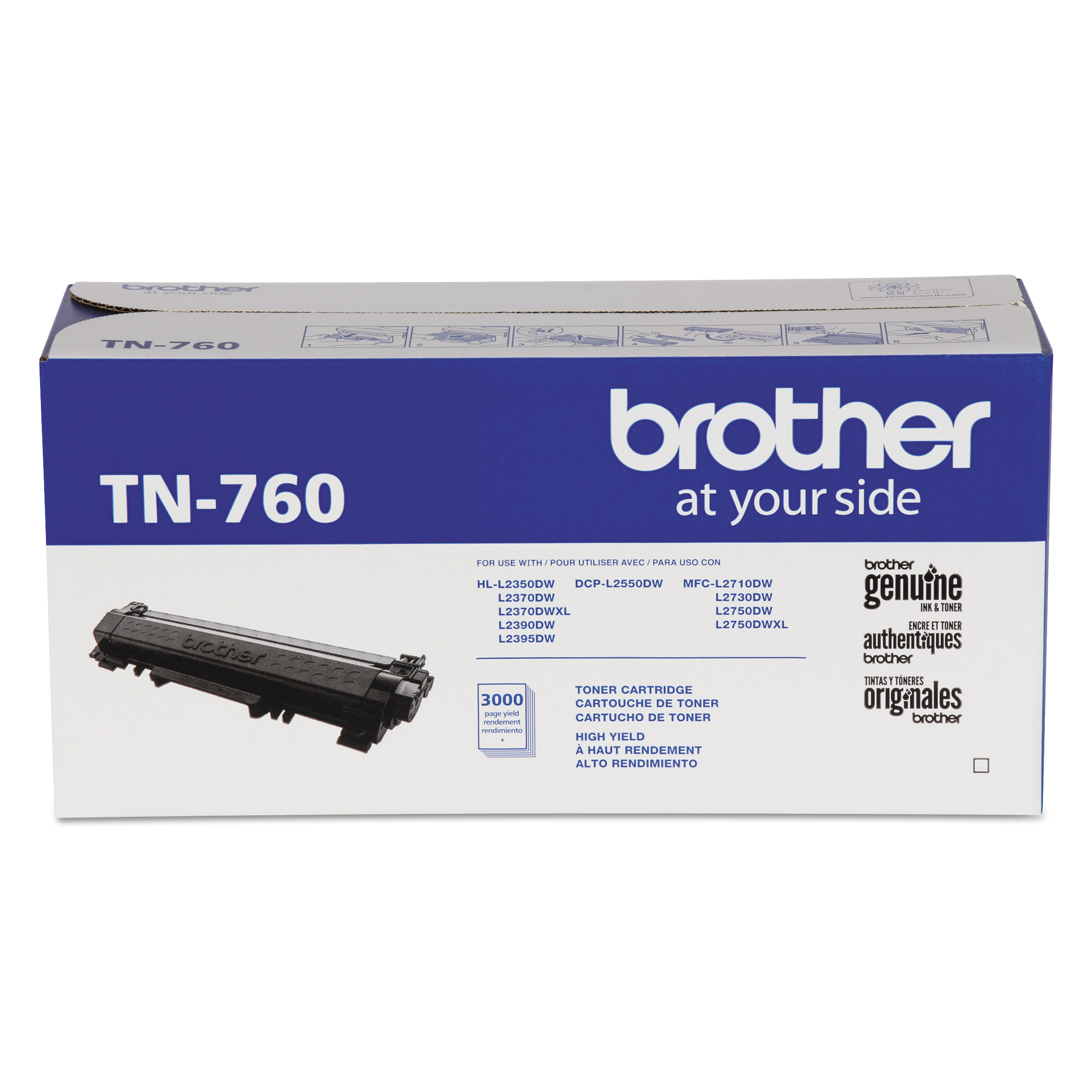 TN760 High-Yield Toner, 3000 Page-Yield, Black