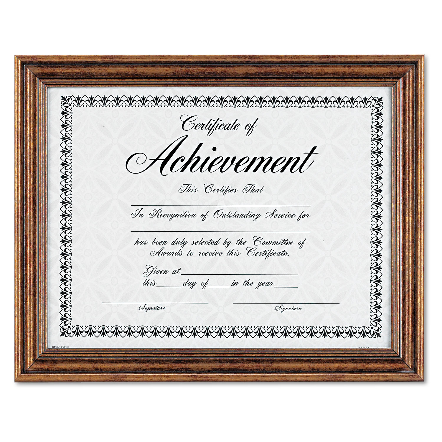 Antique Colored Document Frame w/Certificate by DAX® DAXN1818N3T ...