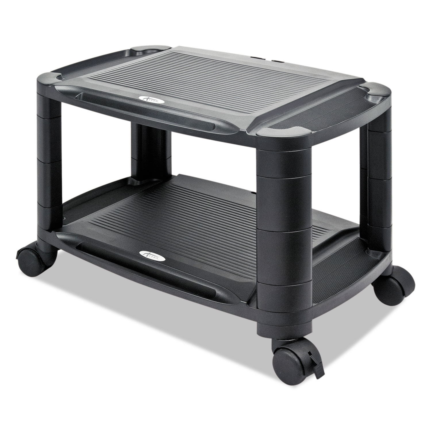 3-in-1 Storage Cart and Stand, 21 5/8w x 13 3/4d x 24 3/4h,Black/Gray