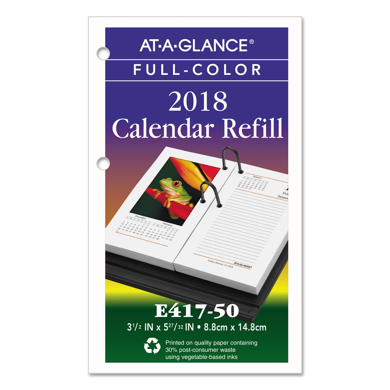 Calendar Refill : Photographic desk calendar refill by at a glance