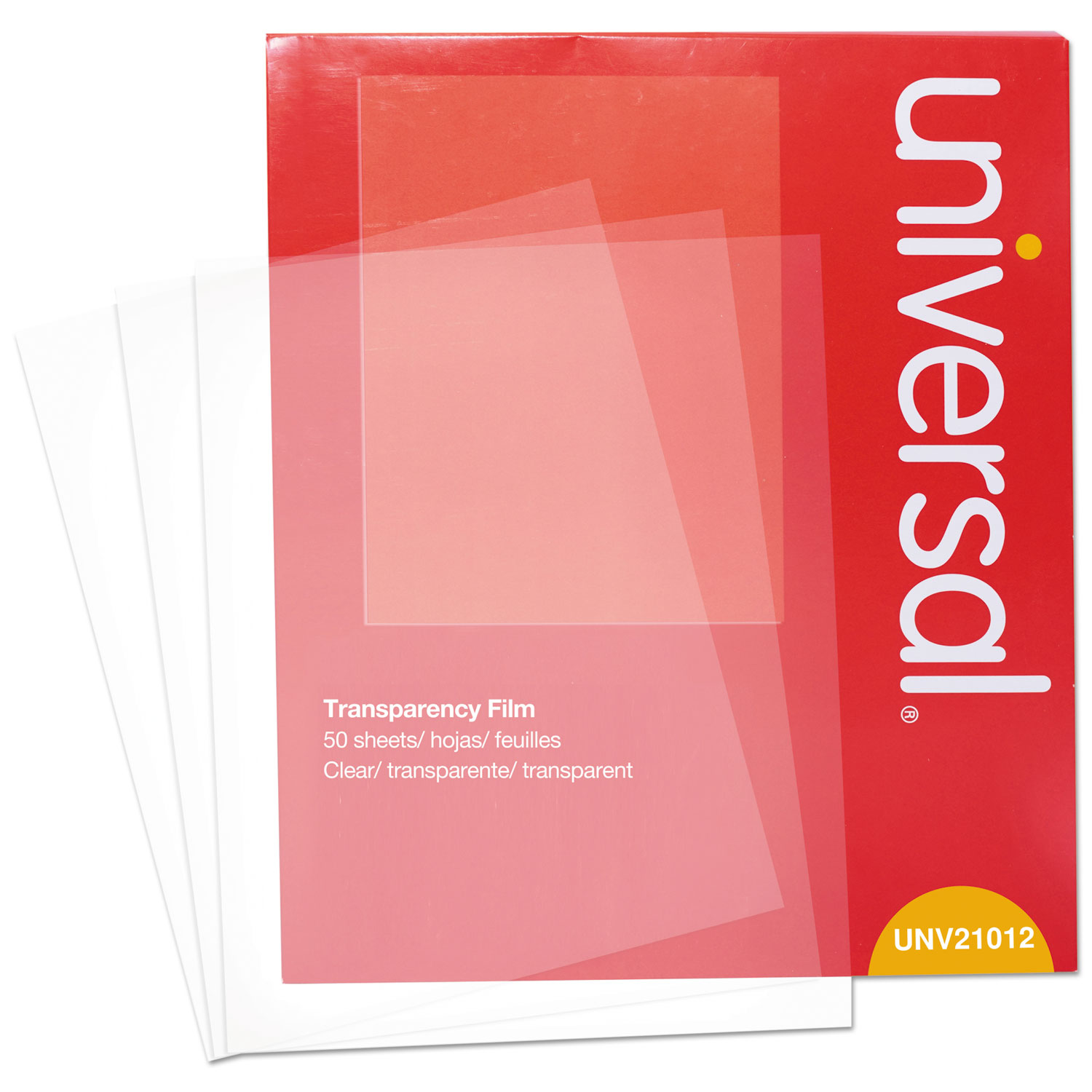 graphic regarding Printable Transparency Sheets called Clear Sheets, Shade Laser, Letter, Crystal clear, 50/Pack