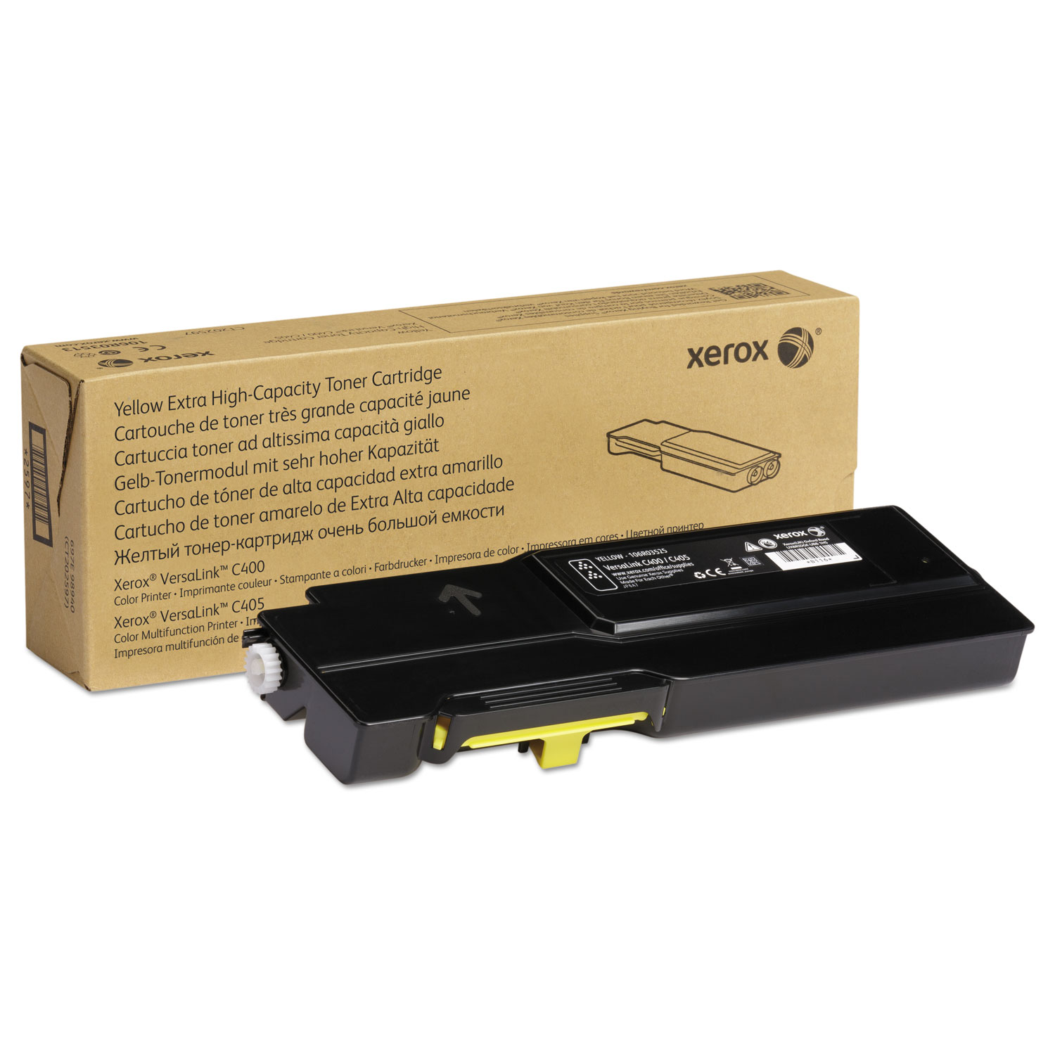 106R03525 Extra High-Yield Toner, 8000 Page-Yield, Yellow