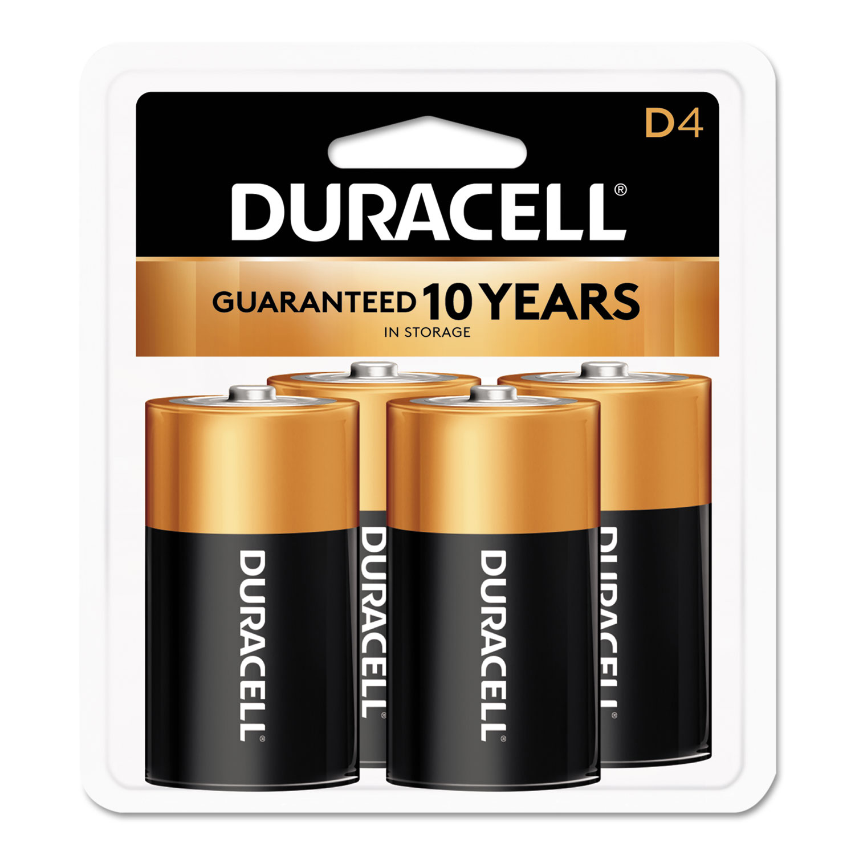 CopperTop Alkaline D Batteries, 4/Pack