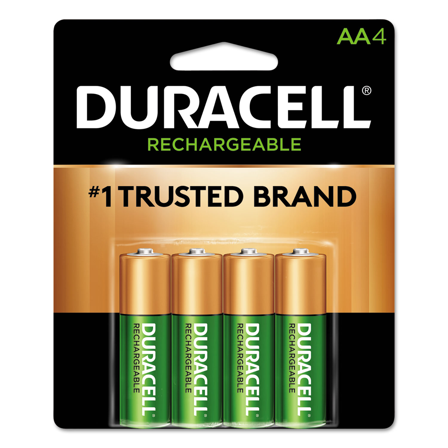 Rechargeable StayCharged NiMH Batteries, AA, 4/Pack