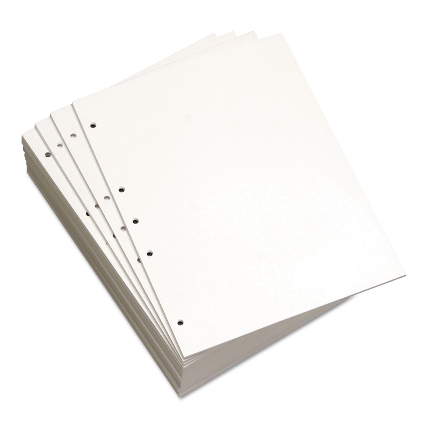 """Pack of 500 Sheets 8.5 x 11/"""" 19 Hole Pre Punched 24 Lb. Binding Paper White"""