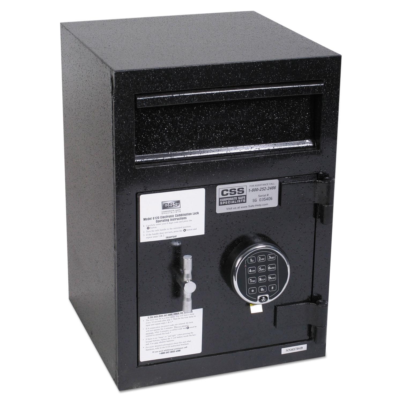 Depository Security Safe, 0.95 cu ft, 14 x 15.5 x 20, Black