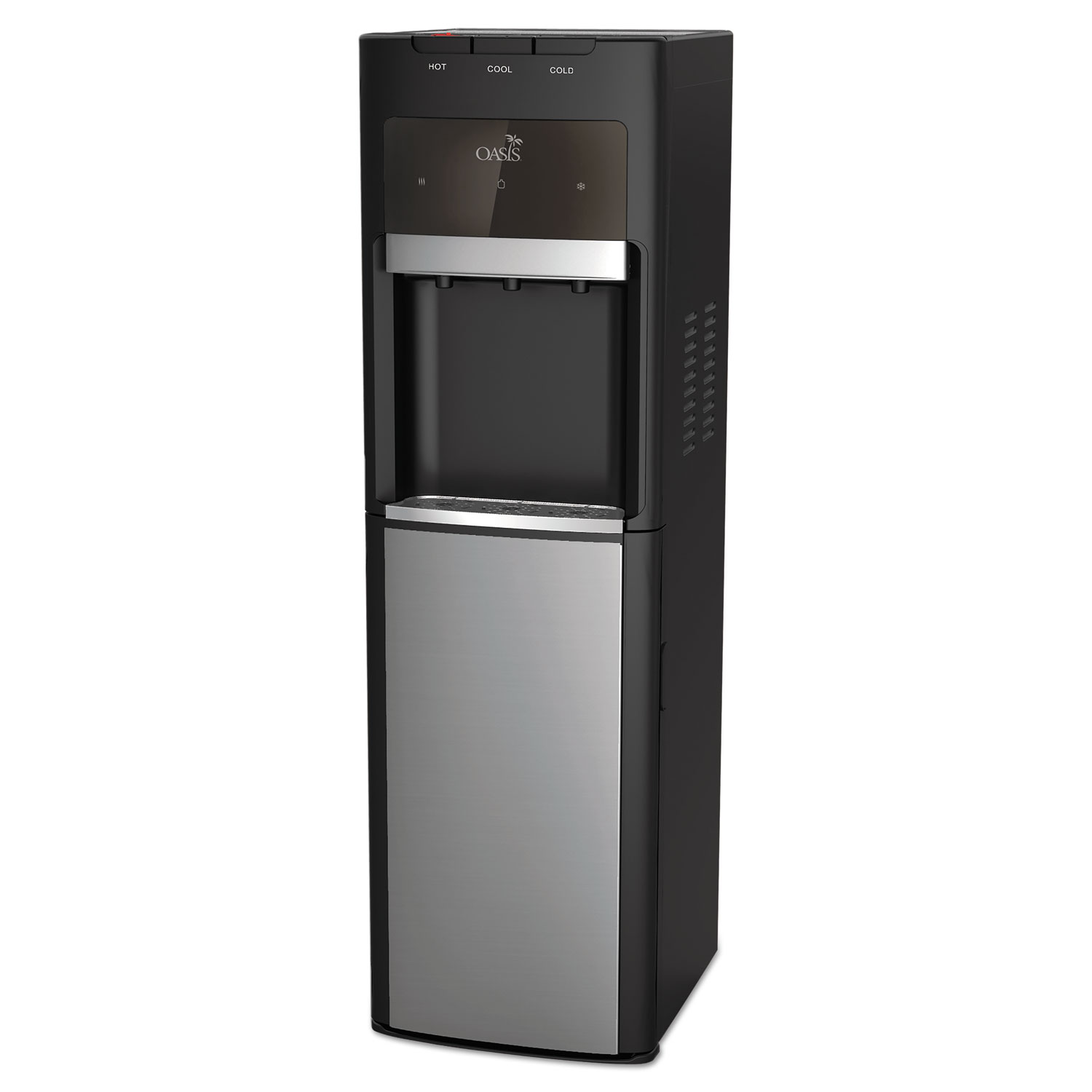Mirage Floorstand Convertible Hot N Cold Water Cooler, 13 dia. x 41 h, Black