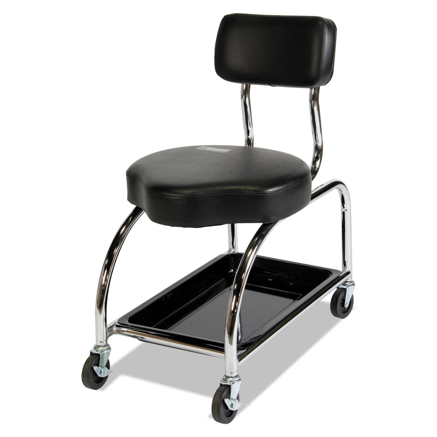 Tremendous Heavy Duty Tool Trolley 18 Seat Height Supports Up To 450 Lbs Black Seat Black Back Chrome Base Ibusinesslaw Wood Chair Design Ideas Ibusinesslaworg