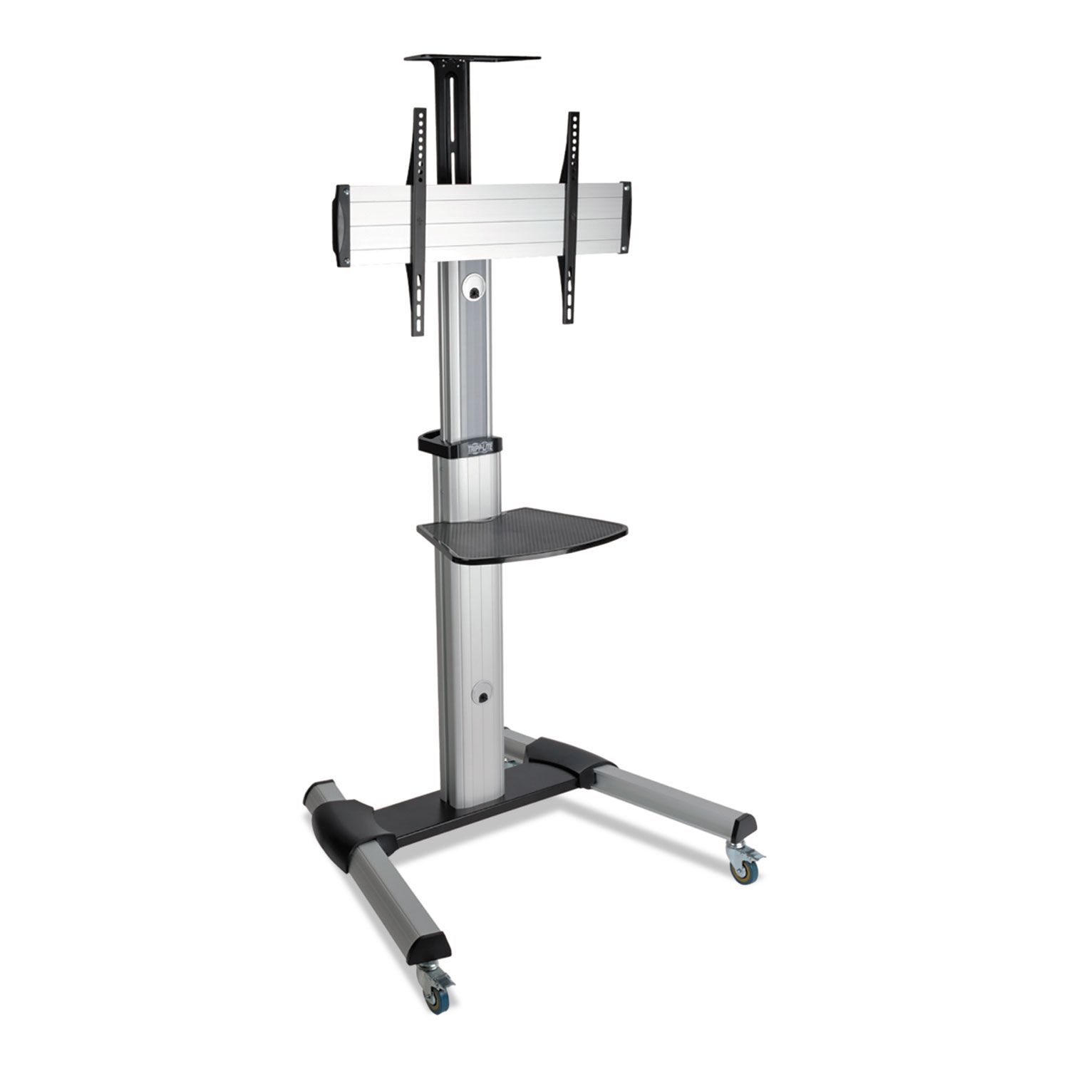 """Mobile Flat/Curved Panel Floor Stand for 32"""" to 70"""" TVs/Monitors, up to 110 lbs"""