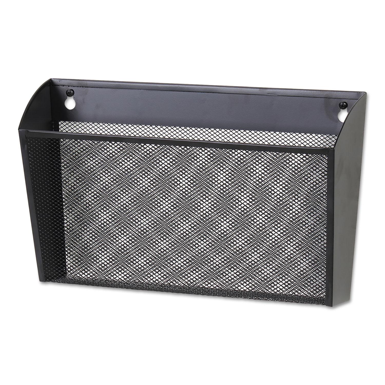 Metal Mesh Wall FileSingle Pocket, 14 1/8 x 3 3/8 x 8 1/8, Letter, Black