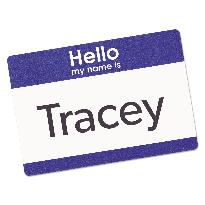 Printable Adhesive Name Badges, 2 1/3 x 3 3/8, Blue