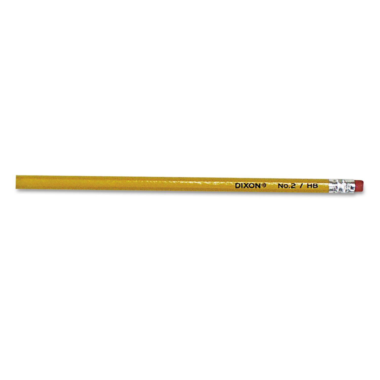 No. 2 Pencil, HB (#2), Black Lead, Yellow Barrel, 144/Box