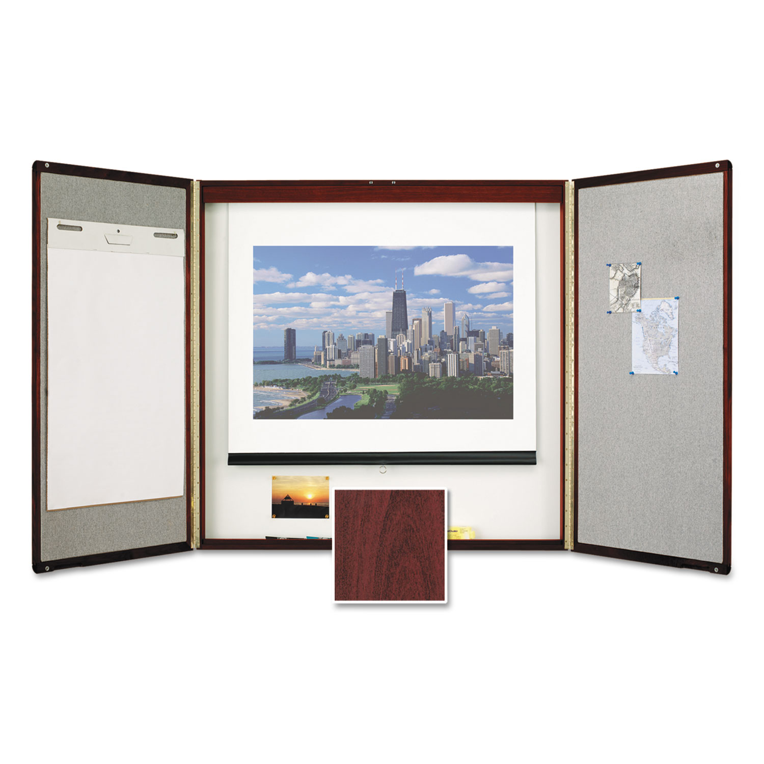 Marker Board Cabinet with Projection Screen by Quartet® QRT851 ...