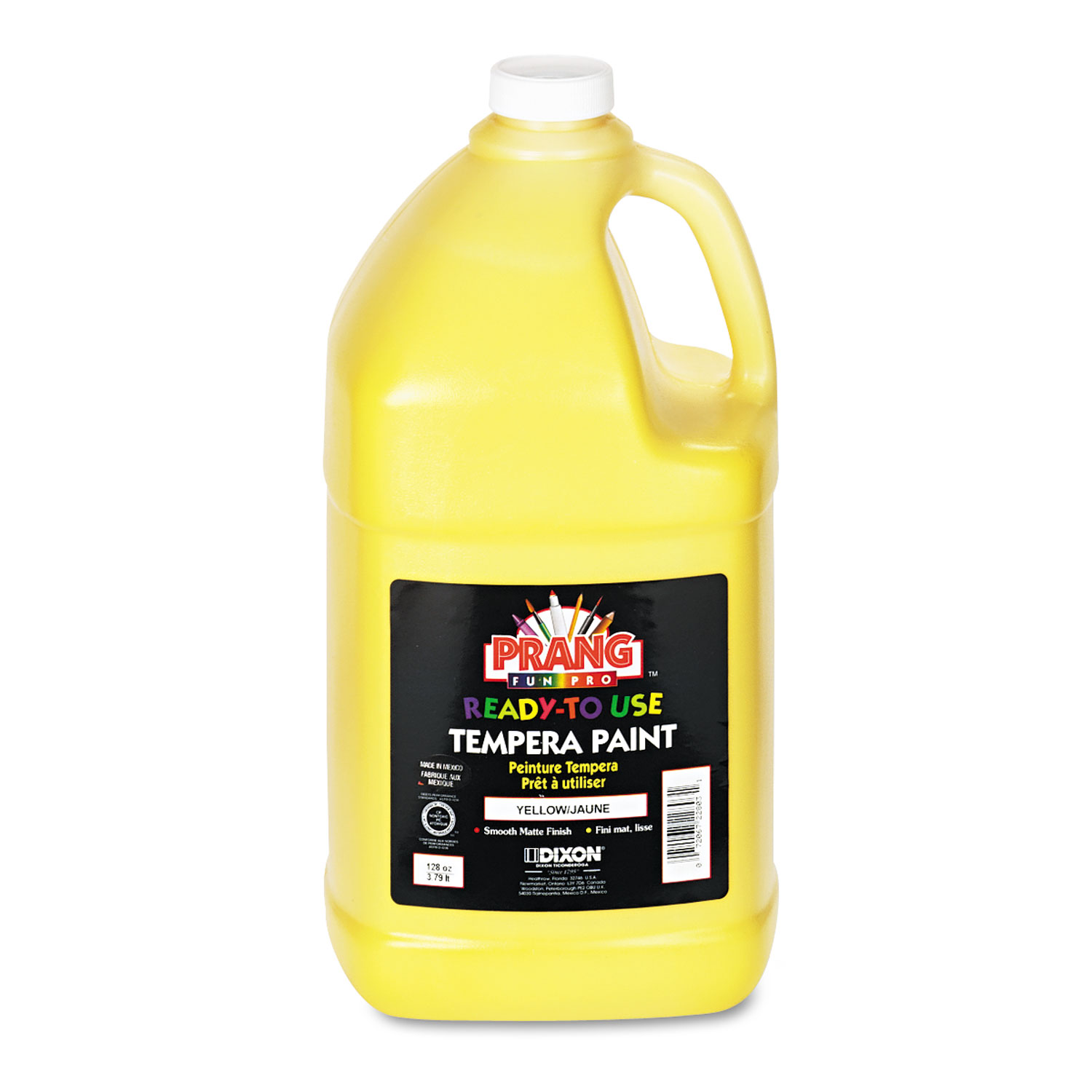 Ready-to-Use Tempera Paint, Yellow, 1 gal