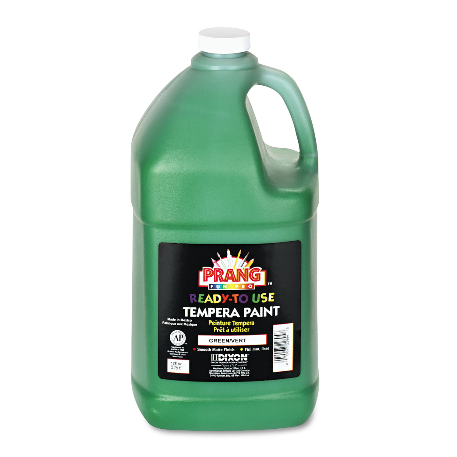 Ready-to-Use Tempera Paint, Green, 1 gal