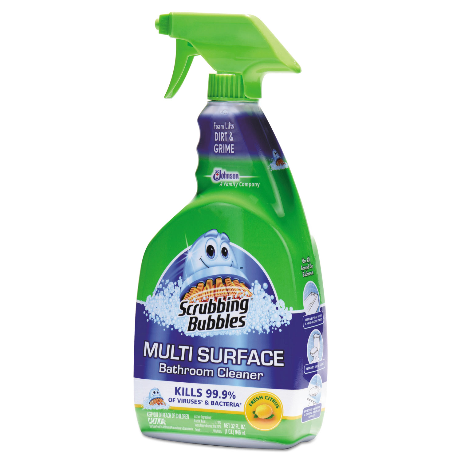 multi surface bathroom cleaner by scrubbing bubbles