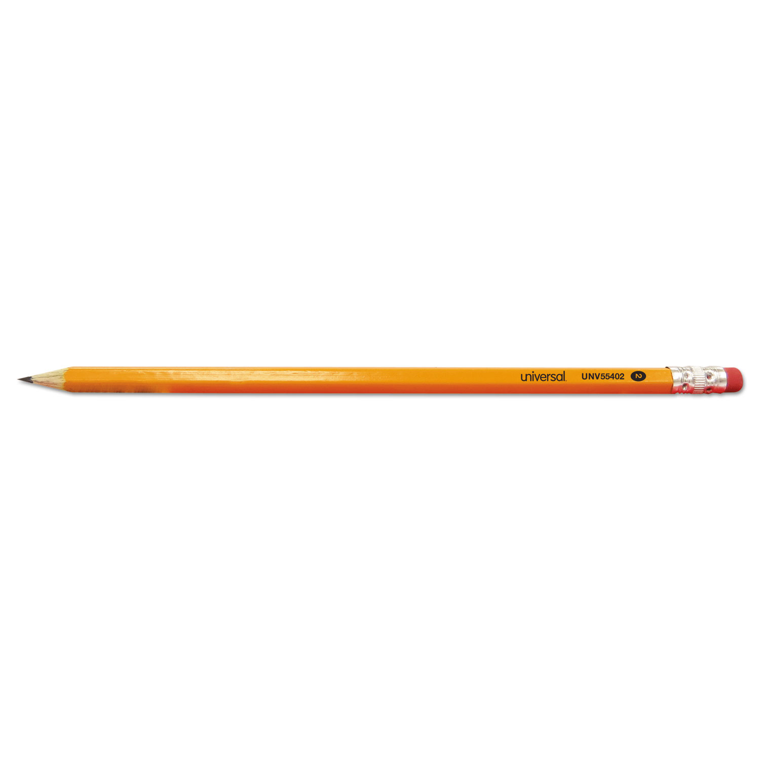 #2 Pre-Sharpened Woodcase Pencil, HB #2, Yellow Barrel, 72/Pack UNV55402