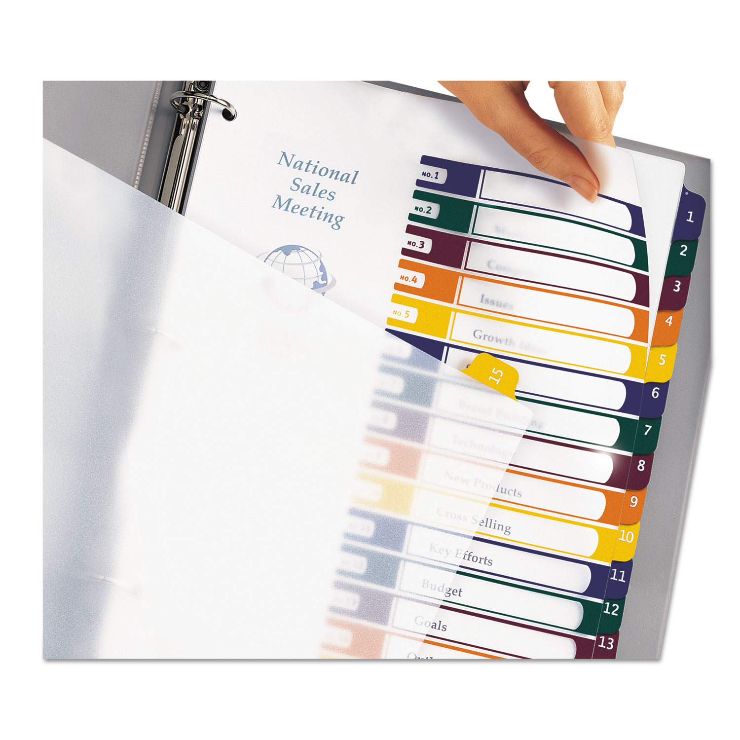 Ready Index Customizable Table Of Contents Plastic Dividers By Avery
