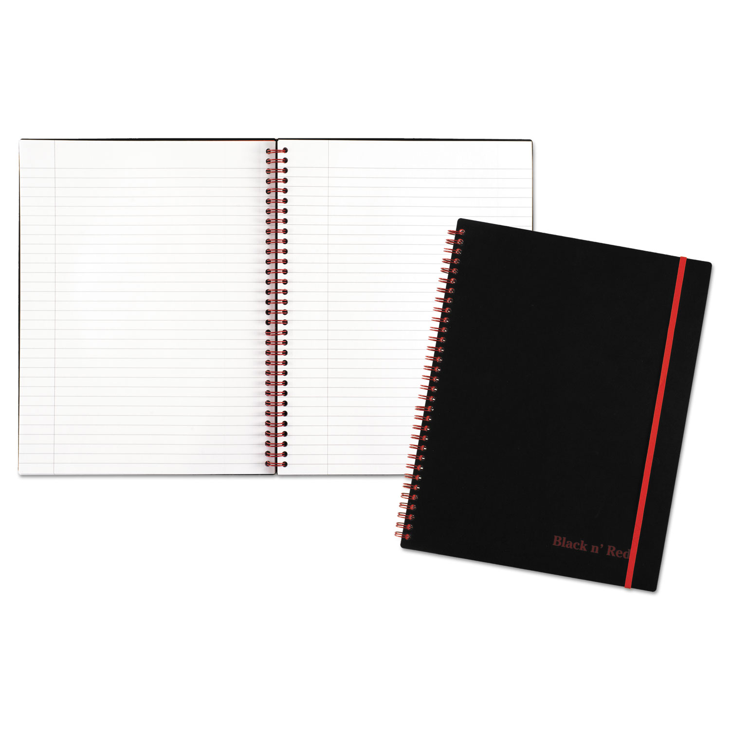 Twin Wire Poly Cover Notebook by Black n\' Red™ JDKK66652 ...