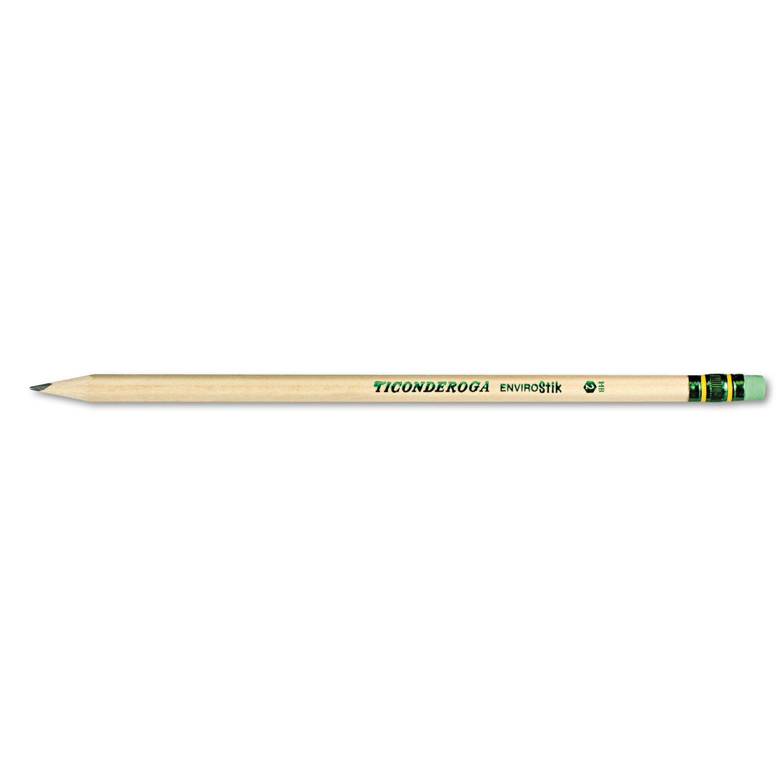 EnviroStiks Pencil, HB (#2), Black Lead, Natural Woodgrain Barrel, Dozen